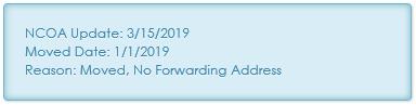 Address Note - Move no forwarding