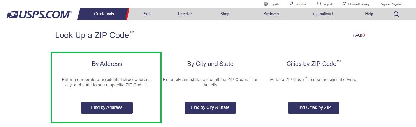 USPS ZipCode Lookup tool to view street name change